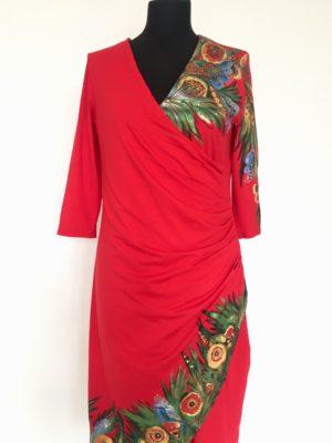 Šaty červené zavinovací