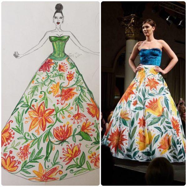 Šaty sametové květy