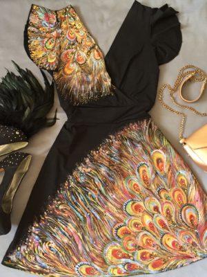 Šaty Paví královna