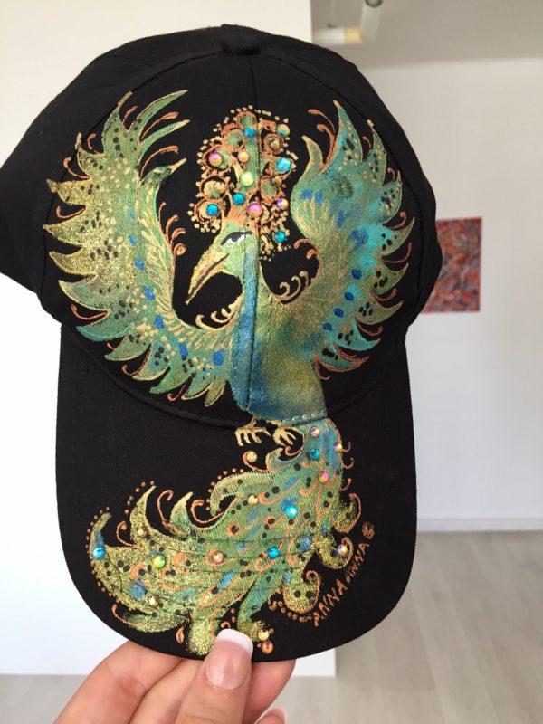 Kšiltovka černá s papouchem