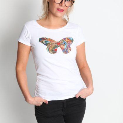 Triko bílé Motýl Relax